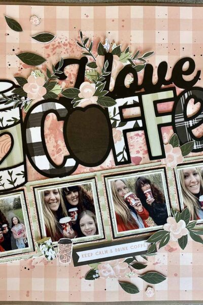 Coffee cup Cut File for scrapbooking layout